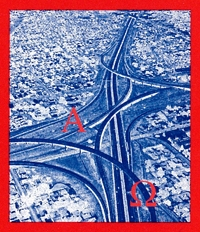 Overhead photo of a large network of freeways.