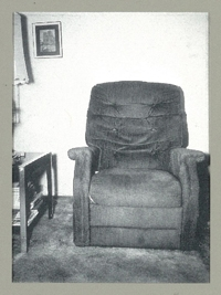 Photo of a well-worn chair.