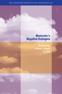 "Image of the book cover for ""Nietzche's Negative Ecologies""."