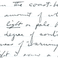 Photo of handwritten, nondescript text.