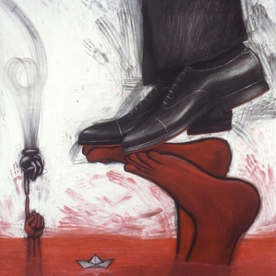 Shoe Feet Painting